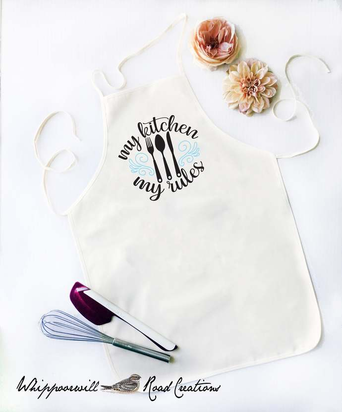 My Kitchen My Rules,   Kitchen Apron, Cooking Apron,Apron, Funny Apron for Men,