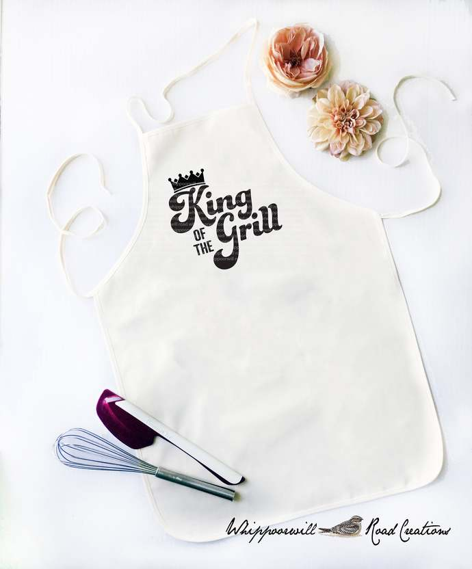 King of the Grill, Father's Day Gift, Cooking Apron, Gift for Chef