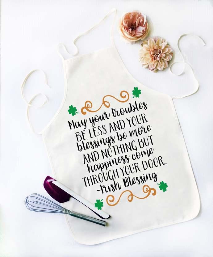 Irish Blessing Apron, Funny Apron, Funny Apron for Men, Custom apron, St