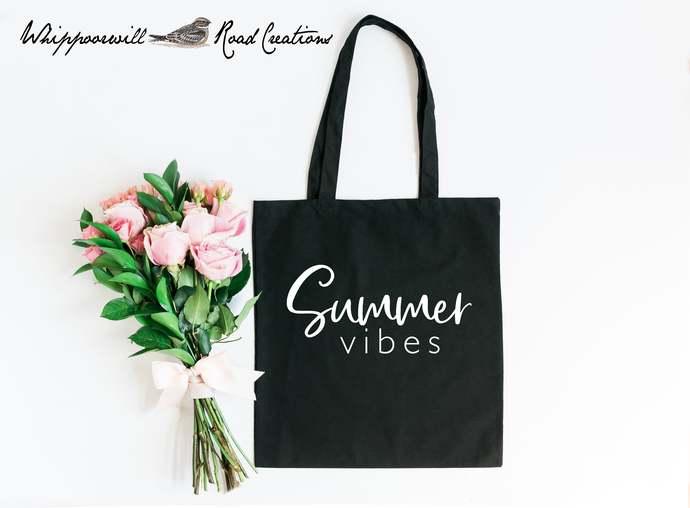 Summer Vibes Tote Bag, Beach Bag, Beach Tote