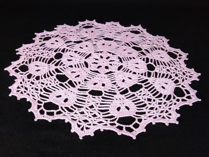 Pale Purple Skull Doily