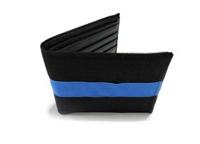 Police officer Thin Blue Line RFID Bi Fold Wallet, Police officer gift for him,
