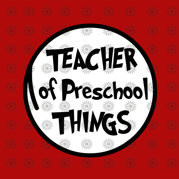 Teacher of preschool things svg,Dr.Seuss svg,Cat in hat, Lorax, Thing one thing