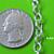 5 feet of Bright Silver Finish Rollo Chain