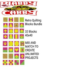 RETRO QUILTING BLOCKS MINI C2C BUNDLE - 32 - 40 X 40 BLOCKS - MIX AND MATCH