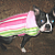 Dog Coat Pink Stripe Reversible Fleece