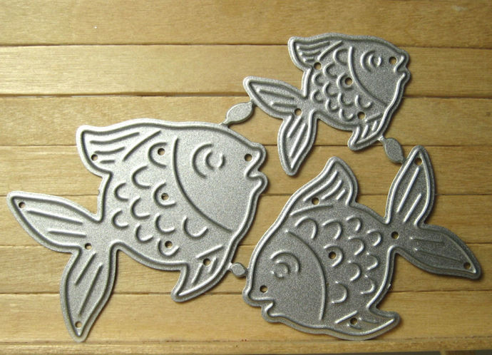 5pc Seahorse and Fish Cutting Dies Set for Cardmaking