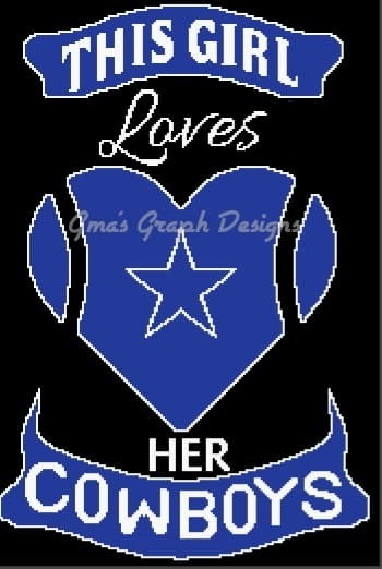 This Girl Loves her Cowboys 180 x 260 sc