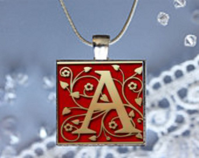 Pendant Necklace with your Initial