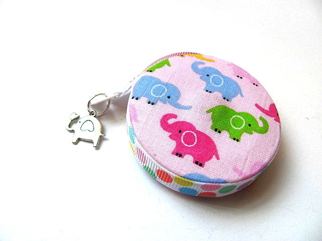 Tape Measure Pastel Elephants Small Retractable Measuring Tape