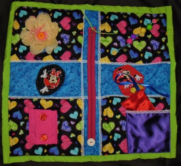 Ladies Activity Fidget Blanket Activity Quilt Lap Quilt Alzheimer's Stroke