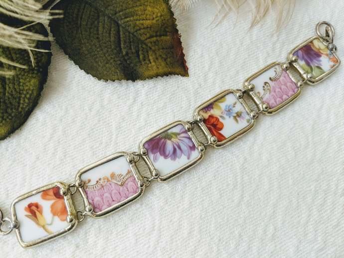 Vintage Carrigan Broken Porcelain China Bracelet