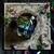THE HIGH PRIESTESS CARD Large tarot Rose Garden Skull with Skeletal Amethyst