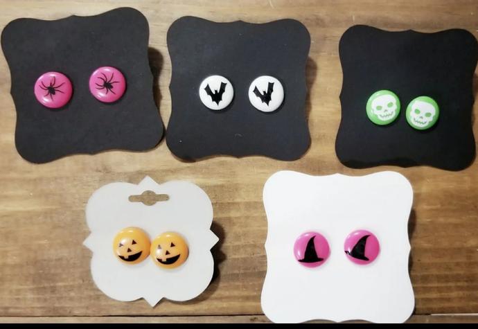 Halloween earrings, set of 5, halloween, earrings