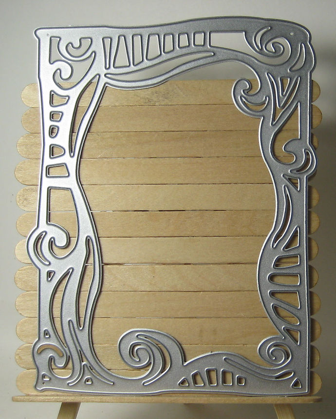 Art Nouveau Style Frame Metal Cutting Die