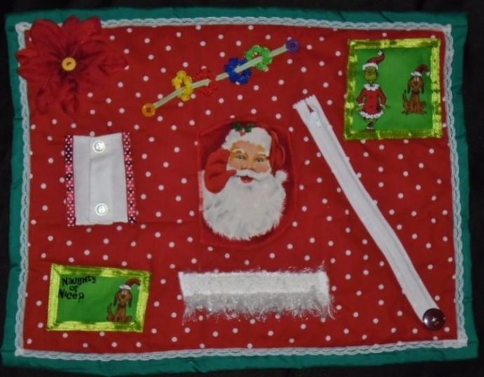 Christmas Busy Hands Quilt Fidget Blanket Alzheimer's Stroke Dementia Brain