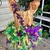 Mardi gras theme Sequin satin lined top feather couture pageant outfit of choice