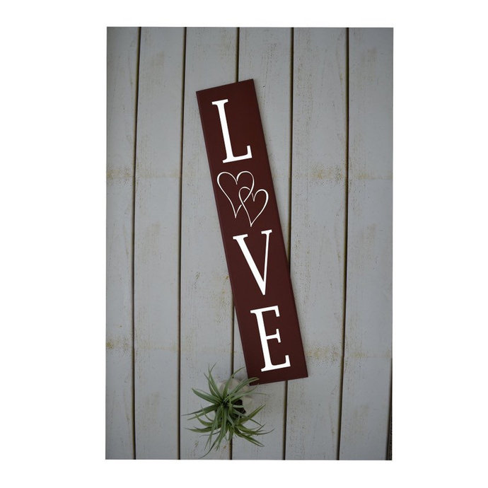 Love Vertical Sign-Wood Sign-Valentines Day Decor-Farmhouse Decor-Front Door
