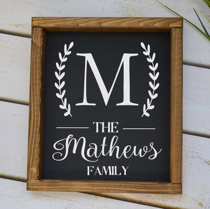 Last Name Sign-Personalized Sign-Wood Sign- Wedding Gift-Wedding Sign-Family