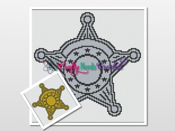 Sheriff Badge Pattern Graph With Mini C2C Written