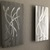 Abstract Metal Wall Art two piece set Silver Sculpture Modern Home Decor by