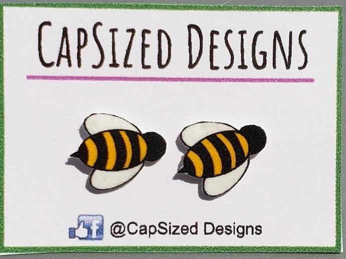 Bumblebee- Bee- Honeybee Novelty Stud Earrings