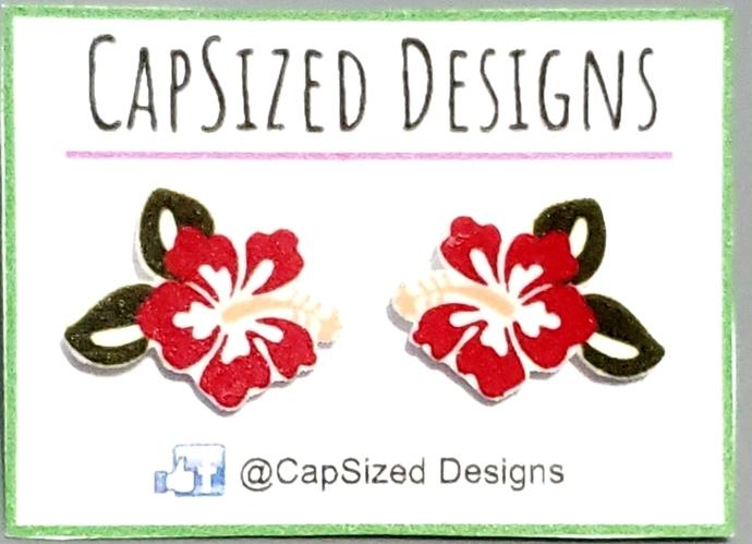Hawaiian Flower Novelty Stud Earrings
