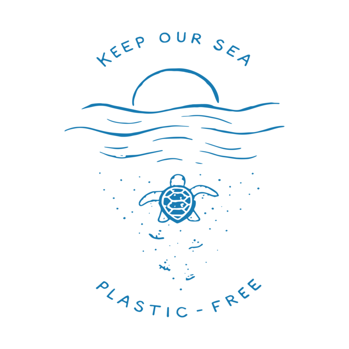 Keep Our Sea Plastic-Free, No plastic, Ocean Lover Gift, protect sea