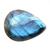 Natural Labradorite Faceted Pear 32 x 25 x 7 mm Semi Precious Loose Gemstone