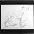 GREYHOUND DOG Vintage Mounted 1937 'Mac' Lucy Dawson Flaxman greyhound standing