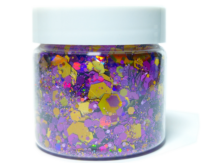 Spell Caster - Halloween Themed, Holographic Loose Cosmetic & Craft Glitter Mix