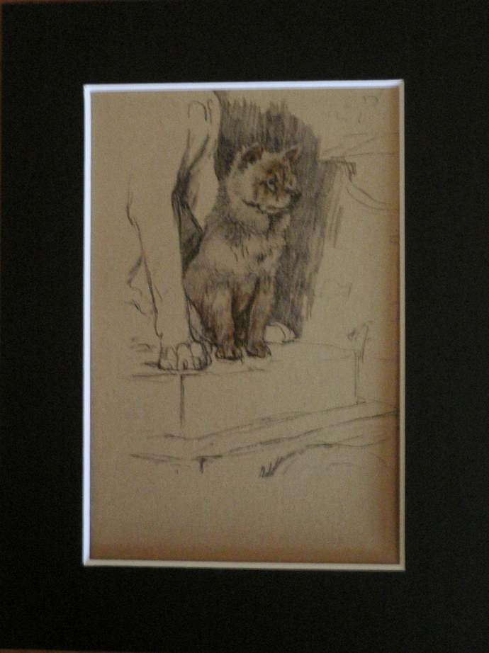 CHOW CHOW Vintage mounted 1935 Cecil Aldin dog book plate print Unique