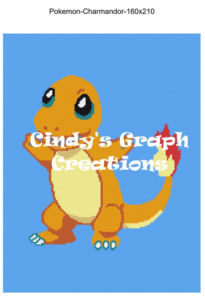 Pokemon - Charmandor 160x210 SC Graph with Written Color Charts