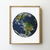 Earth counted cross stitch pattern planet home sweet home galaxy space green