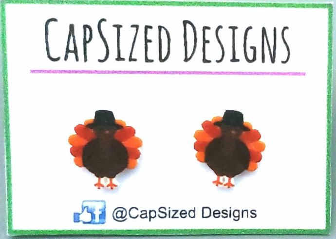 Thanksgiving Turkey Novelty Stud Earrings