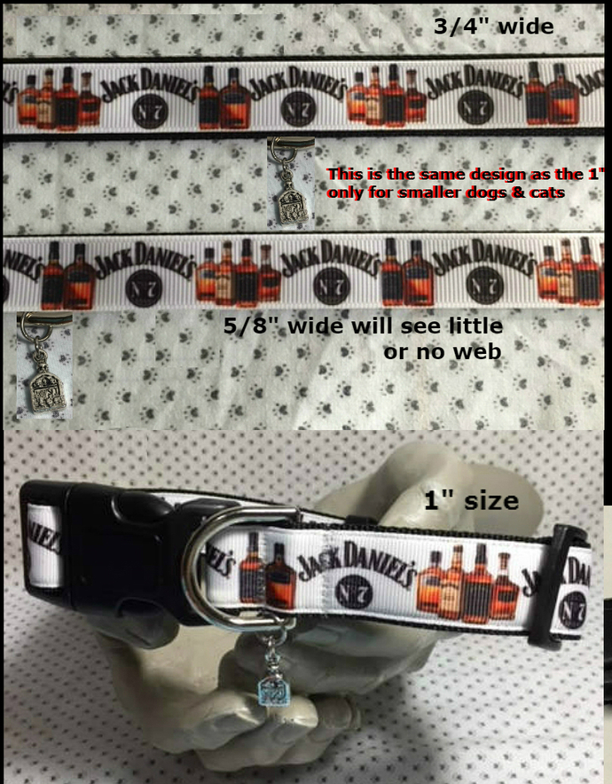 """Whiskey. Liquor, Alcohol, cocktail, party, Jack Daniels, 5/8"""" -  1"""" Dog or Cat"""