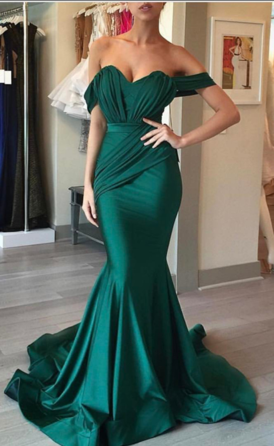 Cheap Prom Dresses ,mermaid Prom Dress,emerald Green Evening Dress