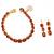 925 Sterling Silver Stunning Hesonite Garnet Tennis Bracelets & Earring Jewelry