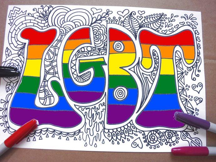 printable lgbt coloring page colouring gay lgbtq lesbic