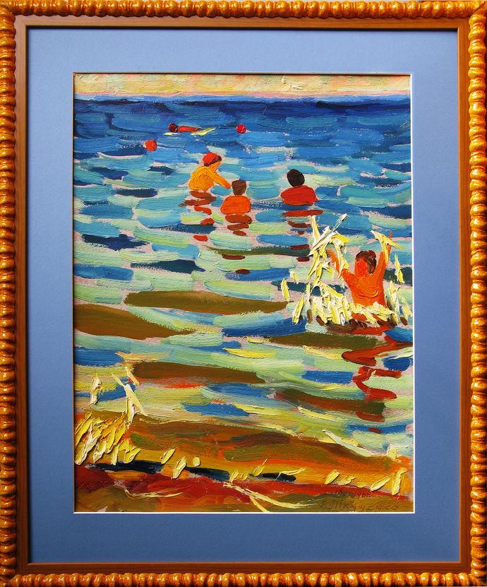 """Painting """"Sprays of the childhood"""". 1968."""