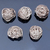 925 Sterling Silver Wire Ball 15 mm Round Flower Bohemian Reducer Beads