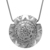 925 Sterling Silver Antique Finish Handmade 48mm round disc Pendant Jewelry
