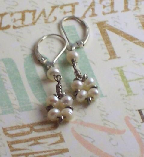 Freshwater Pearl Earrings Sterling Silver