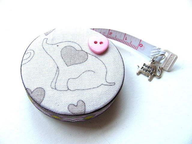 Tape Measure Hearts and Elephants Retractable Measuring Tape