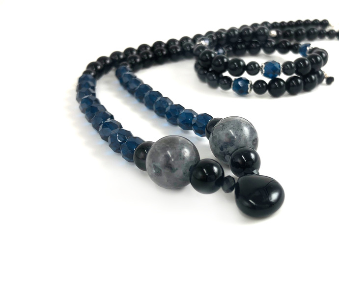 In His Hands Onyx Necklace