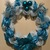 Handmade Christmas and Blue and Silver mesh Wreath for contemporary festive