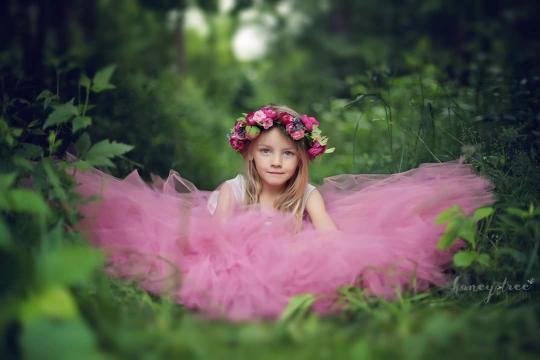 FULL LENGTH Soft Rose Tutu - Flower Girl Tutu - Bridesmaid Tutu - Mommy and Me