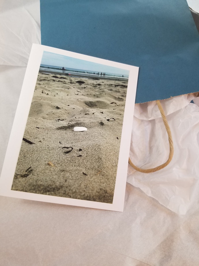 Greeting Card * Personalized Text * Beach * Photo Card * Blank Card