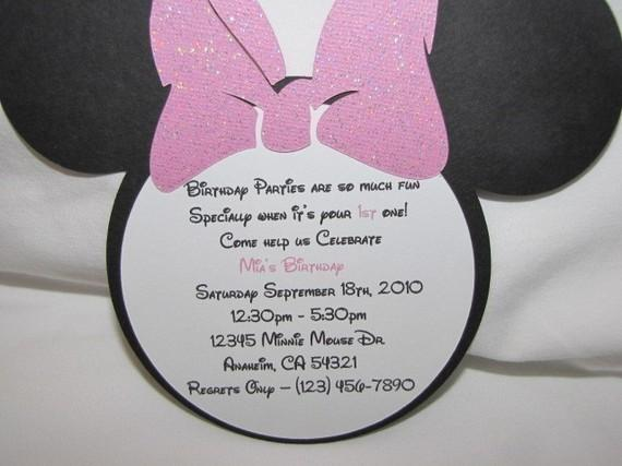 Minnie Mouse Invitations for birthday Set of GaMiBoutique