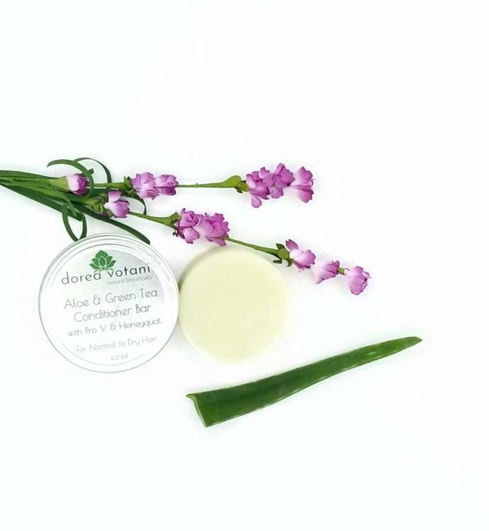 Aloe Green Tea Conditioner Bar | Normal to Dry Hair | Silicone-Free Sulfate-Free
